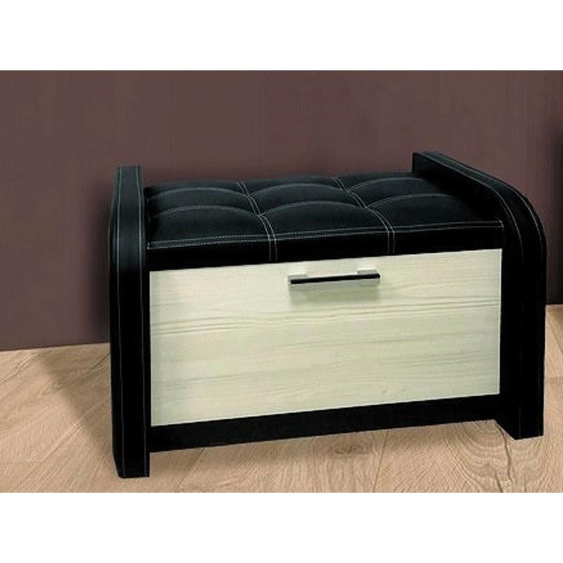 Обувница  Банкетка Лофт Лоредо / Черный Ореон (фото 2)
