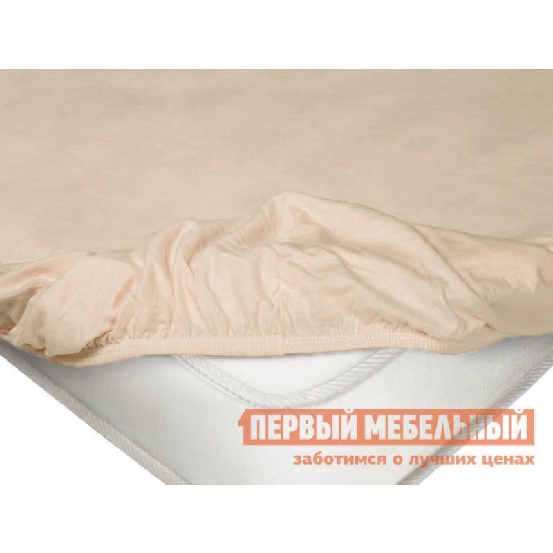 Простыня  Простыня на резинке трикотажная Чайная роза, 1400 Х 2000 Х 200 мм