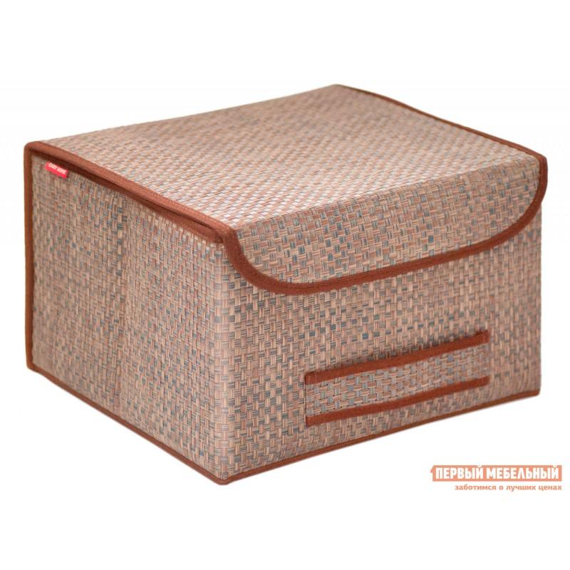 Кофр  Коробка для хранения с крышкой 35х30х22см Бежевый