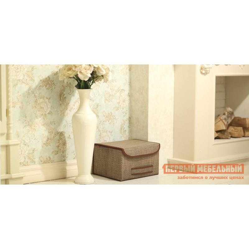 Кофр  Коробка для хранения с крышкой 35х30х22см Бежевый (фото 3)