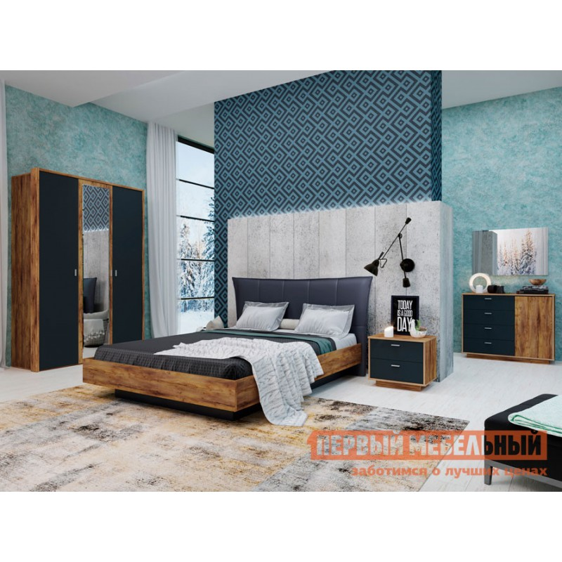 Двуспальная кровать  Кровать с подъемным механизмом Вега Бавария Таксония медовая / Кожа поло графит, 1600 Х 2000 мм (фото 3)