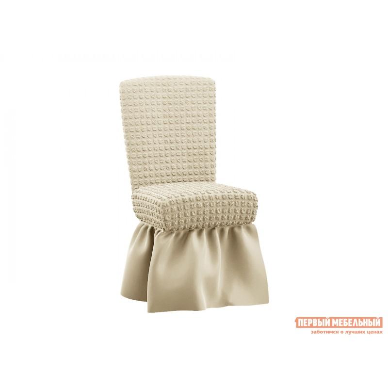 Чехол для мебели  Чехол на комплект из 6 стульев жатка Молочный, жатка
