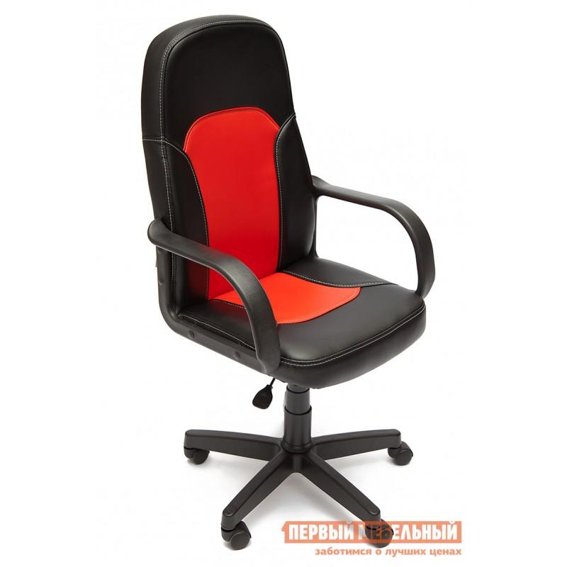 Кресло руководителя  Parma Иск. кожа черная / красная