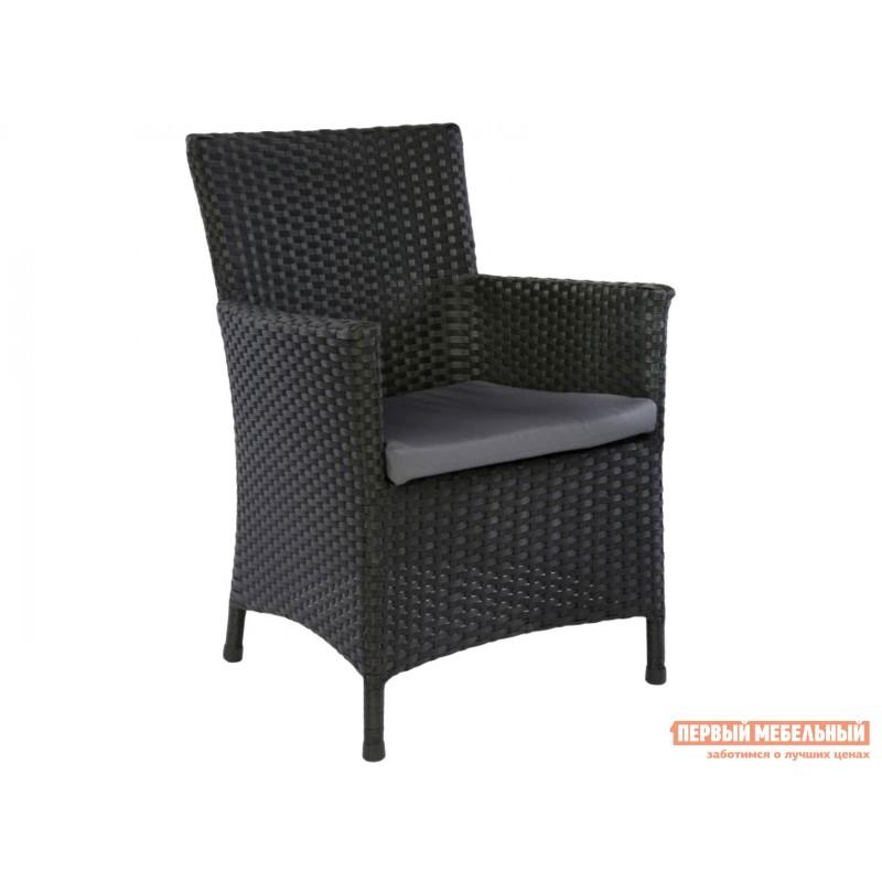 Комплект садовой мебели  MUNICH Черный, ротанг / Серый, ткань (фото 2)