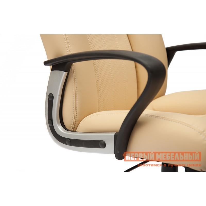Кресло руководителя  Oxford хром Иск.кожа бежевая перфор. (36-34/36-34/06) (фото 4)