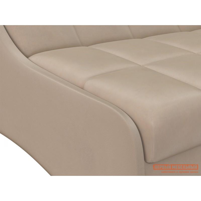 Прямой диван  Диван Токио / Диван Токио Люкс Латте, велюр, 160х200 см, Независимый пружинный блок (фото 3)