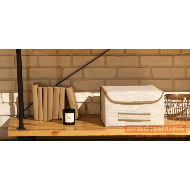 Кофр  Коробка для хранения с крышкой 35х30х22см Белый (фото 3)