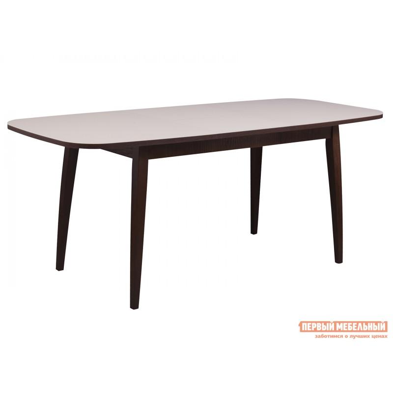 Кухонный стол  Стол Турин Орех темный / Стекло бежевое матовое (фото 2)