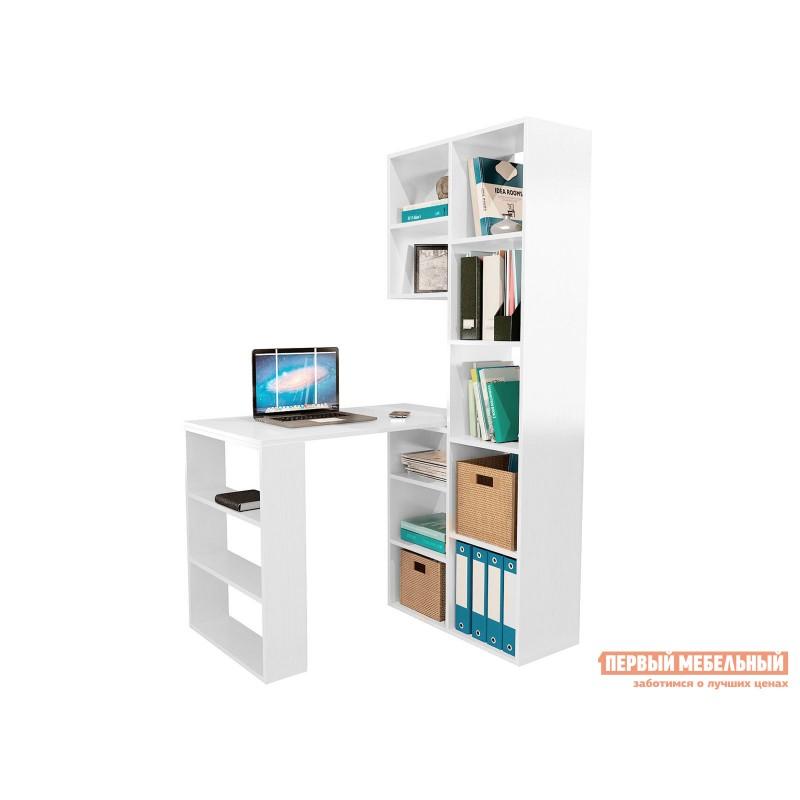 Компьютерный стол  Рикс-2 + Рикс-5 Белый