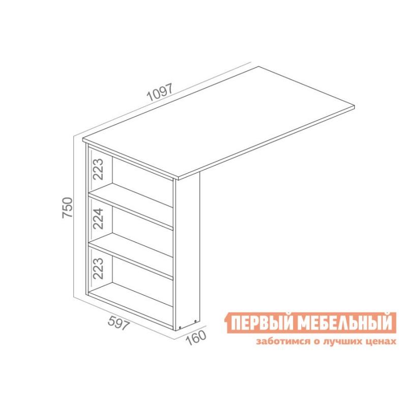 Компьютерный стол  Рикс-2 + Рикс-5 Белый (фото 4)