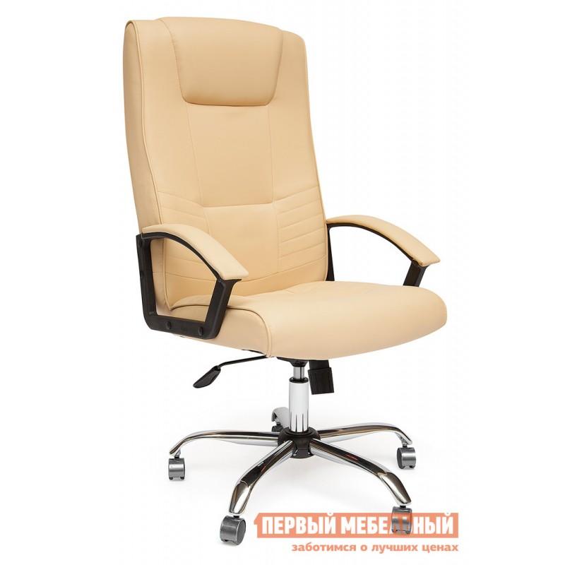 Кресло руководителя  Maxima хром Иск. кожа бежевая PU C36-34