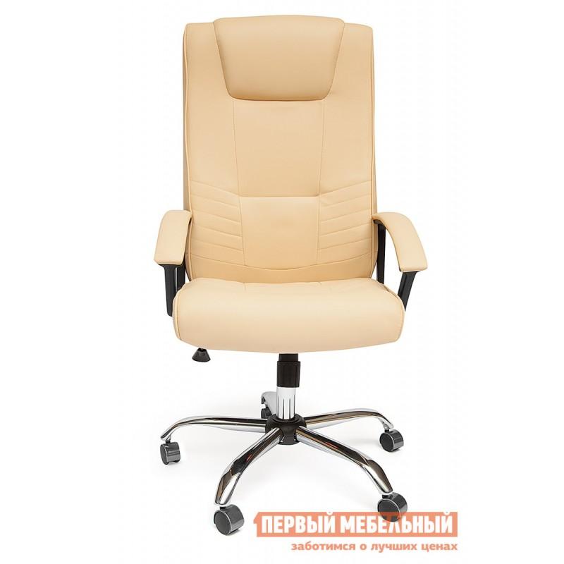 Кресло руководителя  Maxima хром Иск. кожа бежевая PU C36-34 (фото 2)