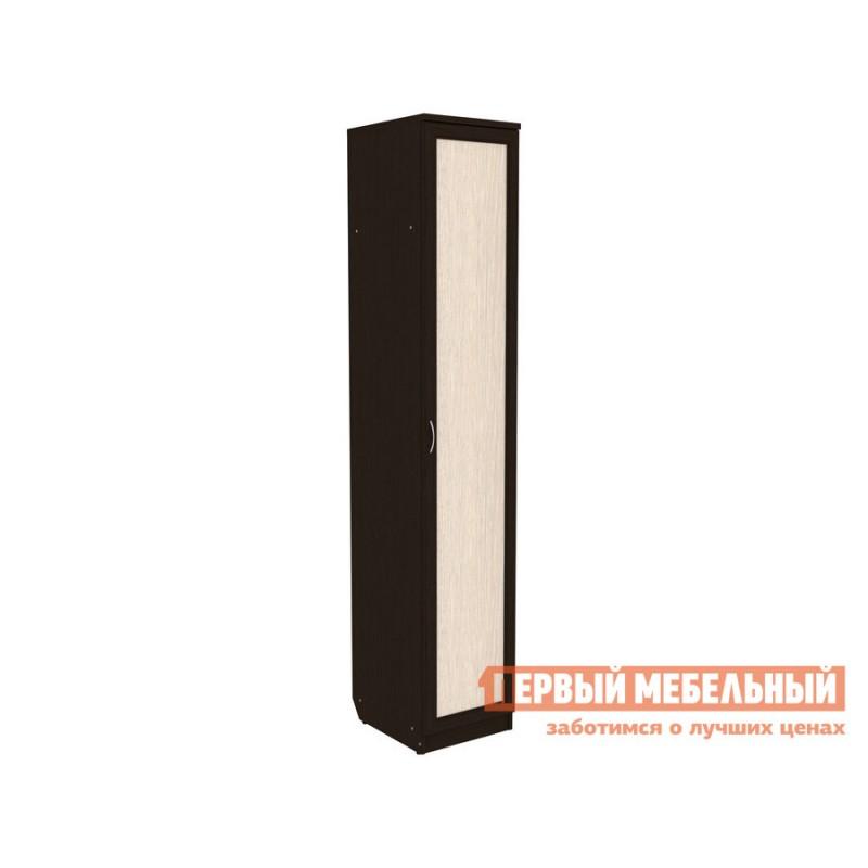 Распашной шкаф  Мерлен 105 с полками Венге / Дуб Атланта, Без зеркала