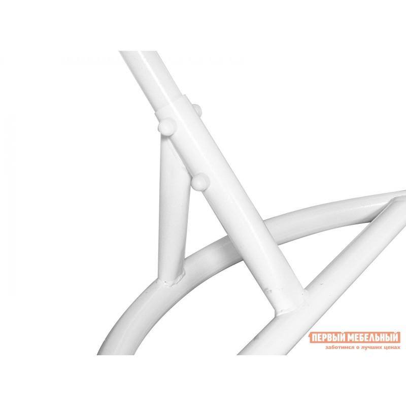 Подвесное кресло  Ажур Белый, ротанг / Зеленое яблоко, ткань (фото 4)