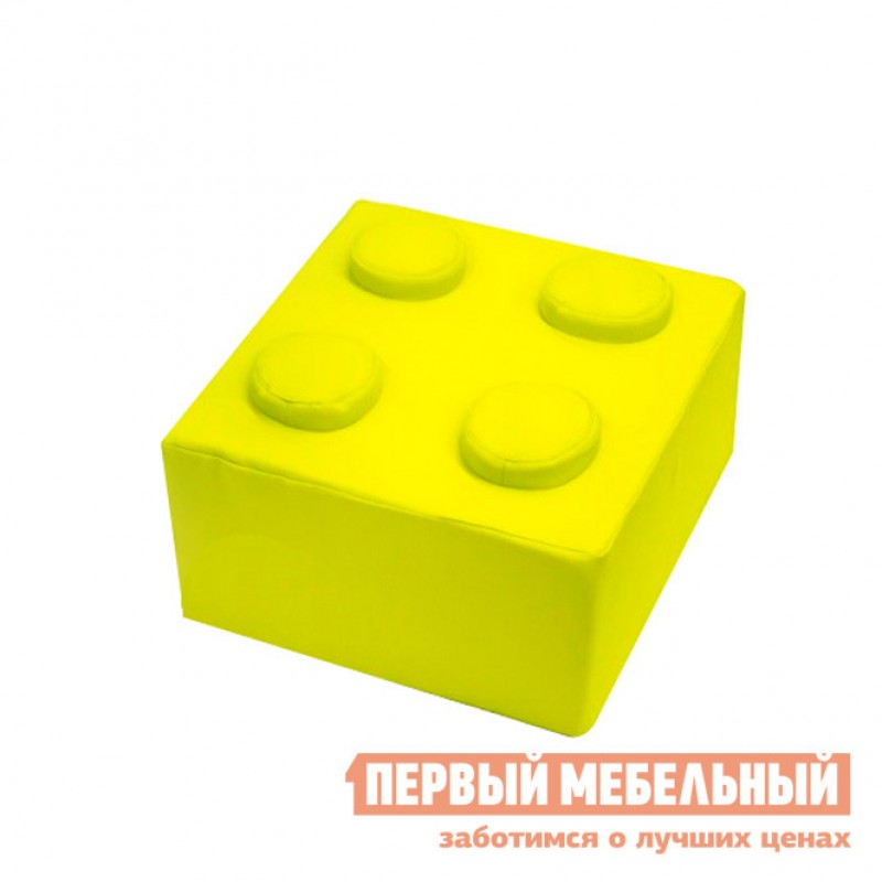 Детский пуфик  Детский пуфик Конструктор К Желтый