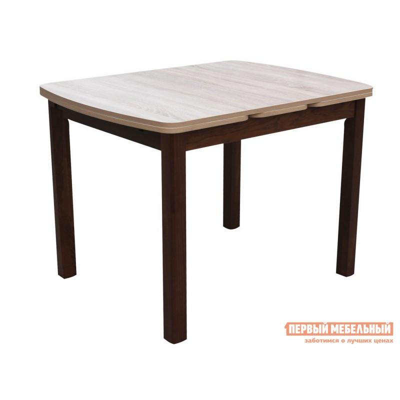 Кухонный стол  Орлеан 1,7 ЛДСП Орех темный / Дуб Сонома