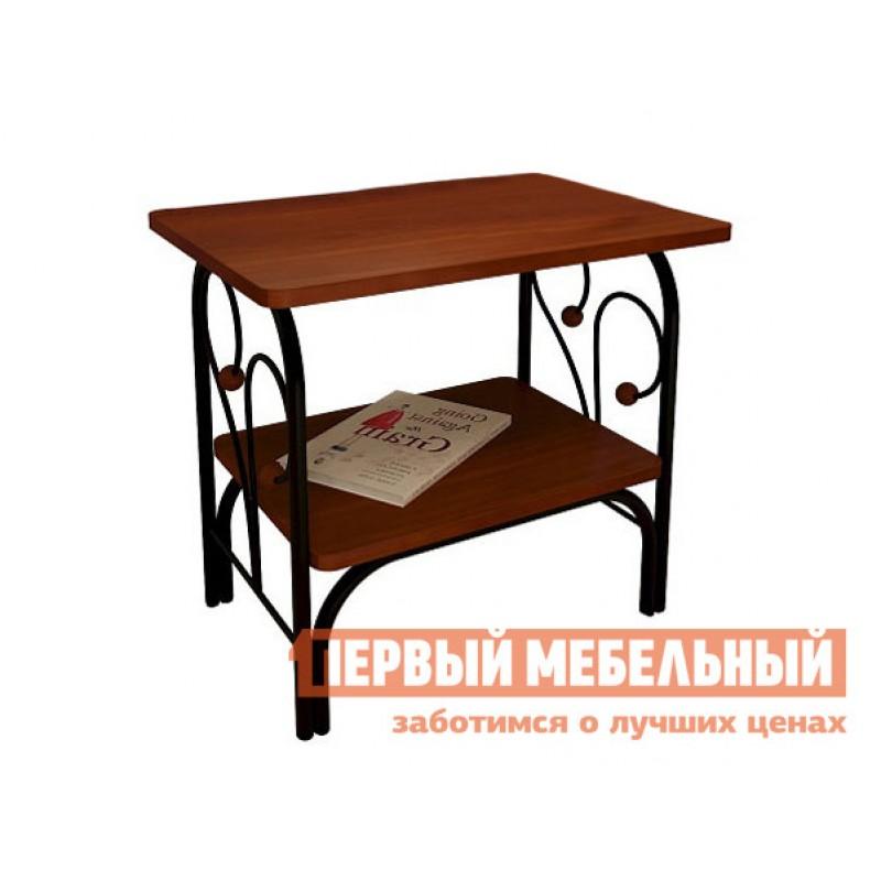 Прикроватная тумбочка  Прикроватная тумба Сандра Черный металл / Орех