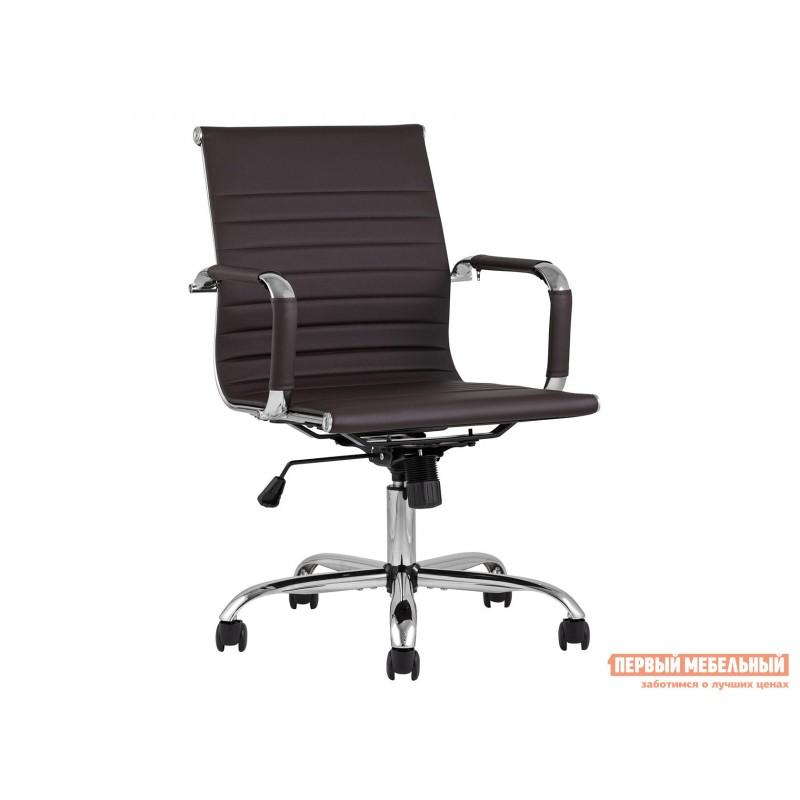 Офисное кресло  КреслоофисноеTopChairsCityS Коричневый, экокожа