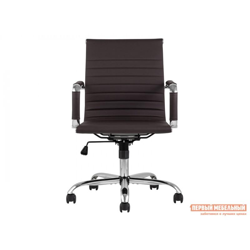 Офисное кресло  КреслоофисноеTopChairsCityS Коричневый, экокожа (фото 2)