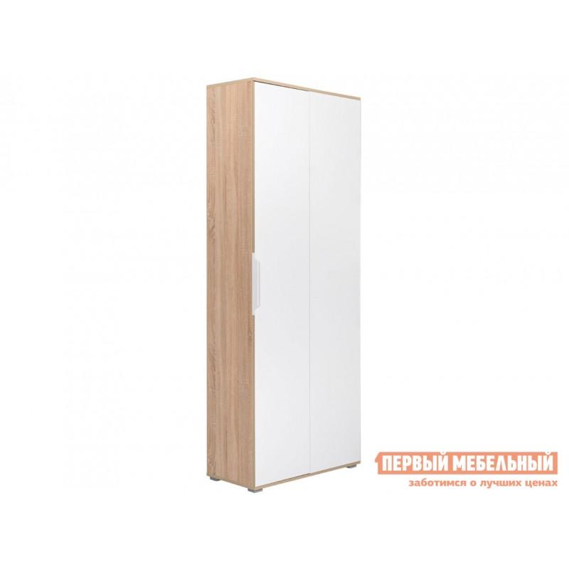 Распашной шкаф  Шкаф двухстворчатый Куба угол 13.137 Дуб сонома / Белый