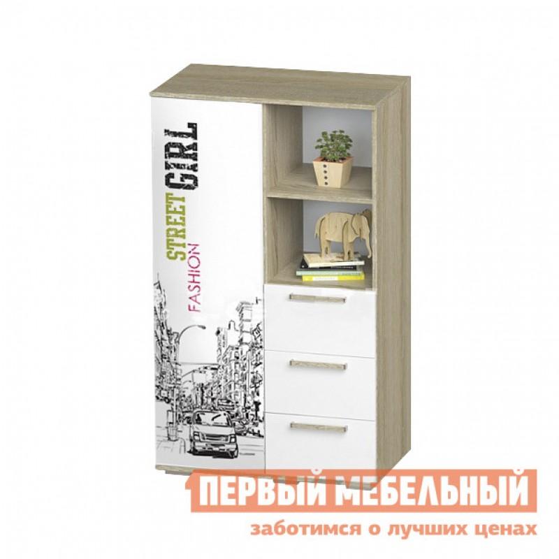 Шкаф детский  Шкаф многофункциональный Сенди Дуб сонома / Girl