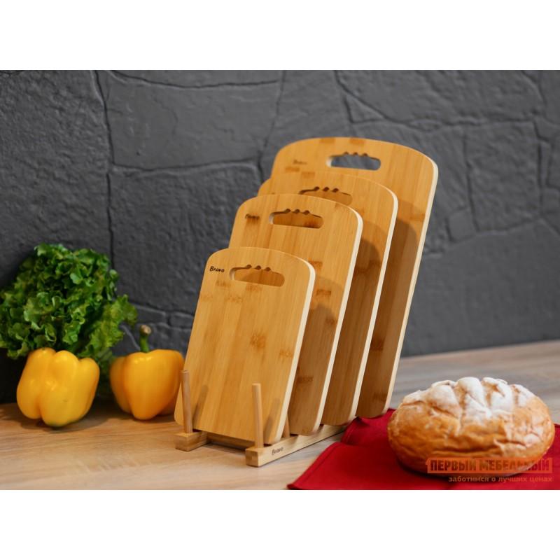 Сушилка-подставка  Подставка для досок, 22*12*8,6см,бамбук BRAVO Бамбук (фото 4)
