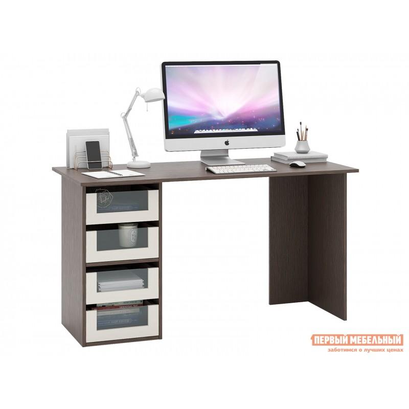 Письменный стол  Прайм-56 Венге / Дуб молочный