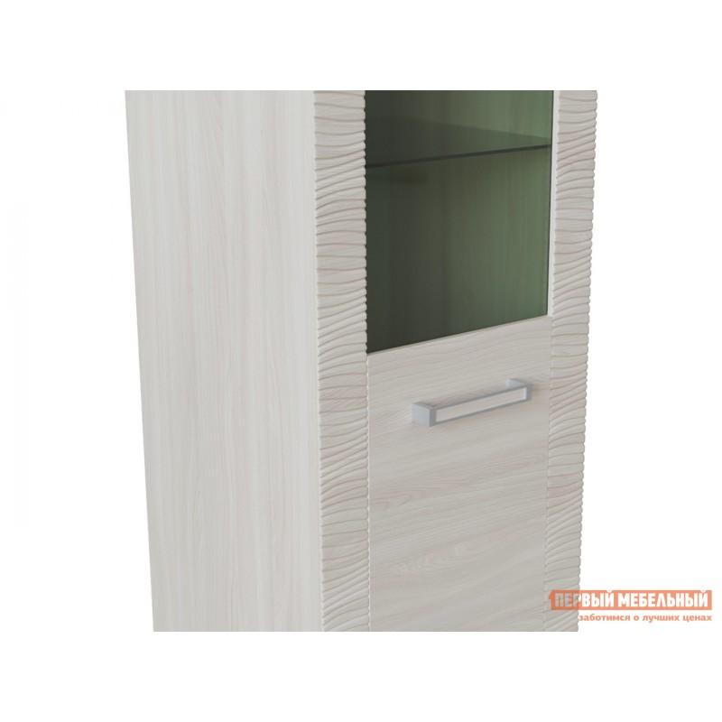 Шкаф-витрина  Элегия ШК-149 Ясень Шимо светлый (фото 3)