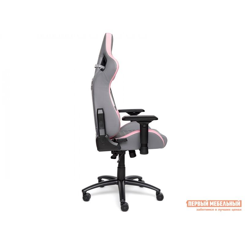 Игровое кресло  iPinky Иск. кожа серая / Карбон черный / Иск. кожа розовая (фото 3)