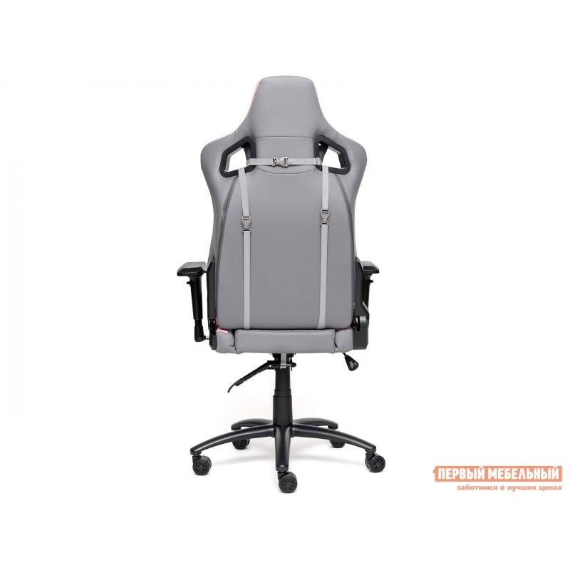 Игровое кресло  iPinky Иск. кожа серая / Карбон черный / Иск. кожа розовая (фото 4)