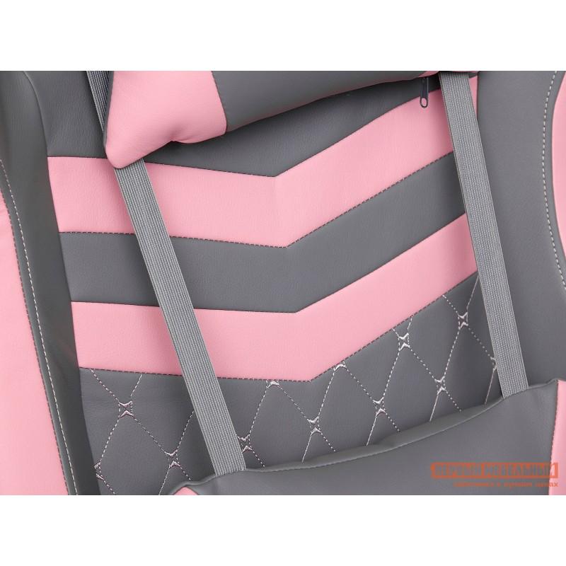 Игровое кресло  iPinky Иск. кожа серая / Карбон черный / Иск. кожа розовая (фото 7)