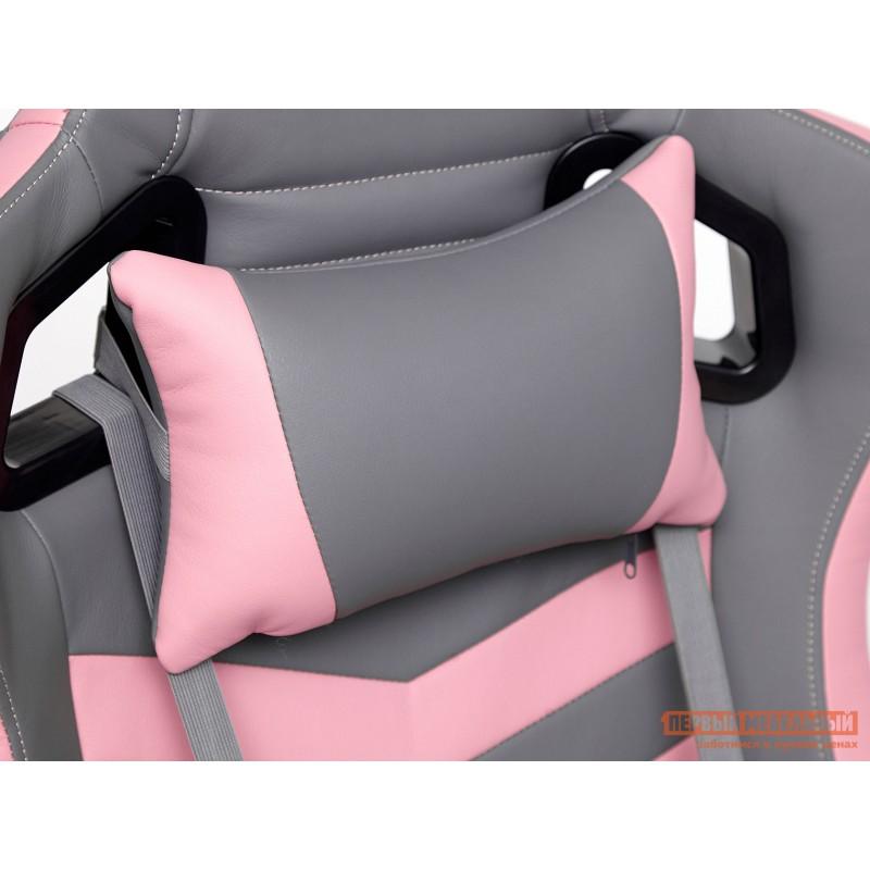 Игровое кресло  iPinky Иск. кожа серая / Карбон черный / Иск. кожа розовая (фото 8)