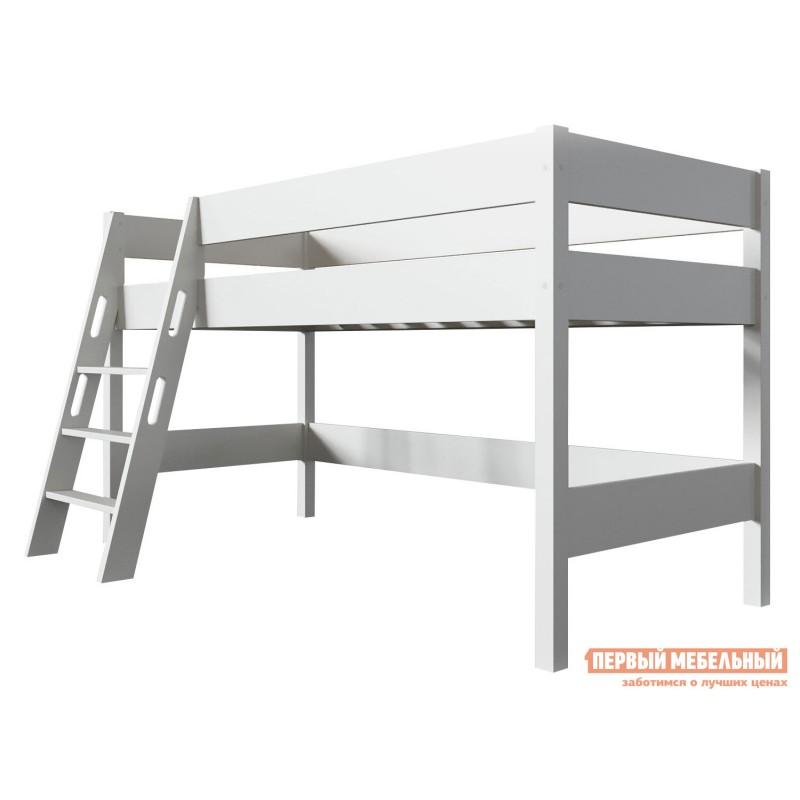 Кровать-чердак  Кровать-чердак Линда Белый, 80х190 (фото 2)