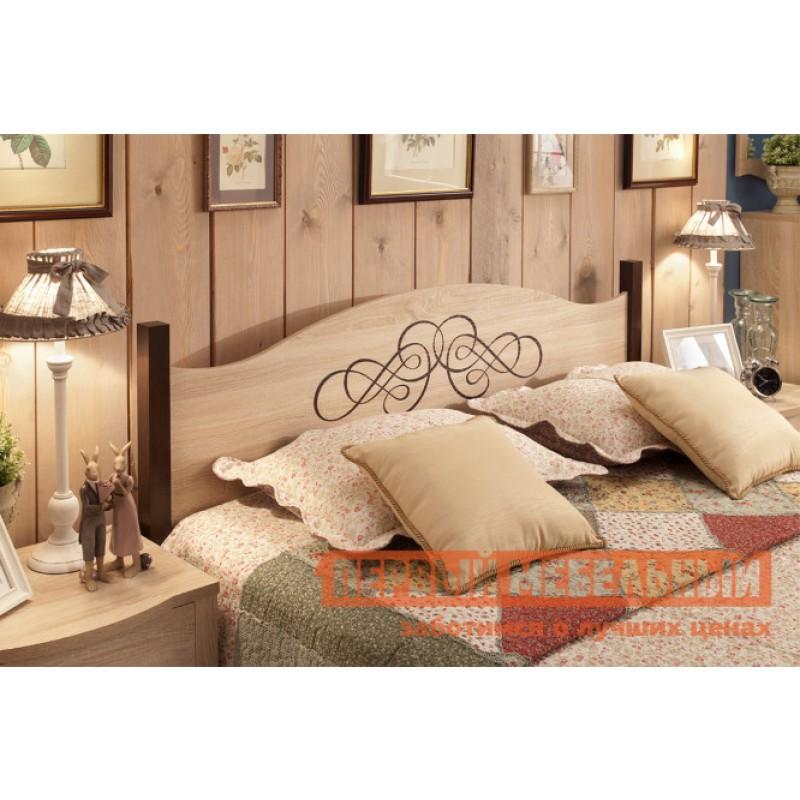 Двуспальная кровать  ADELE 1/2/3 Дуб Сонома / Орех Шоколадный, 1800 Х 2000 мм, С металлическим основанием (фото 3)