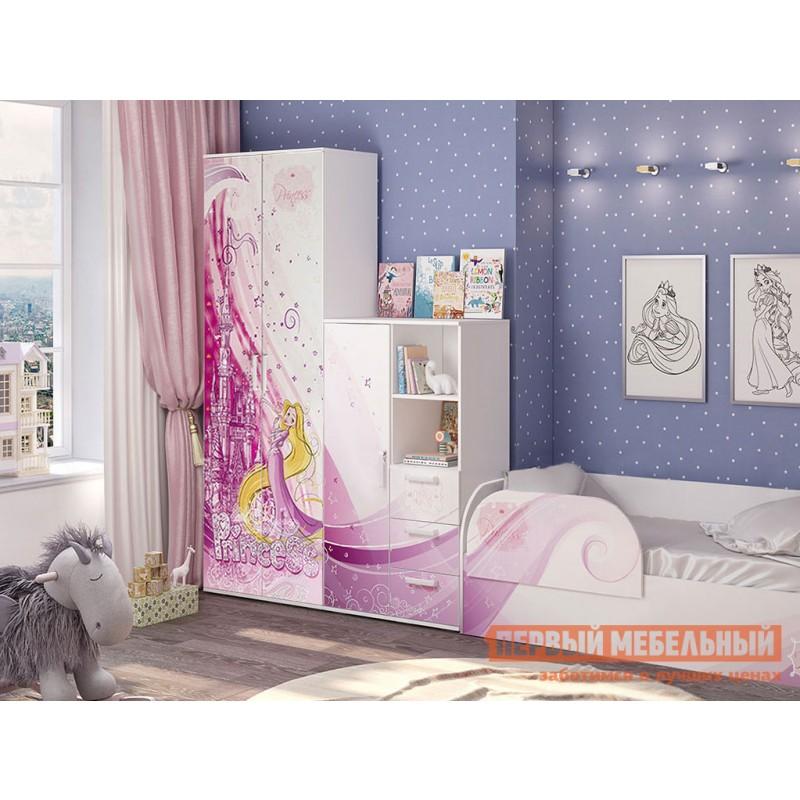 Шкаф детский  Трио шкаф для одежды ШК-09 Белый, рапунцель (фото 3)
