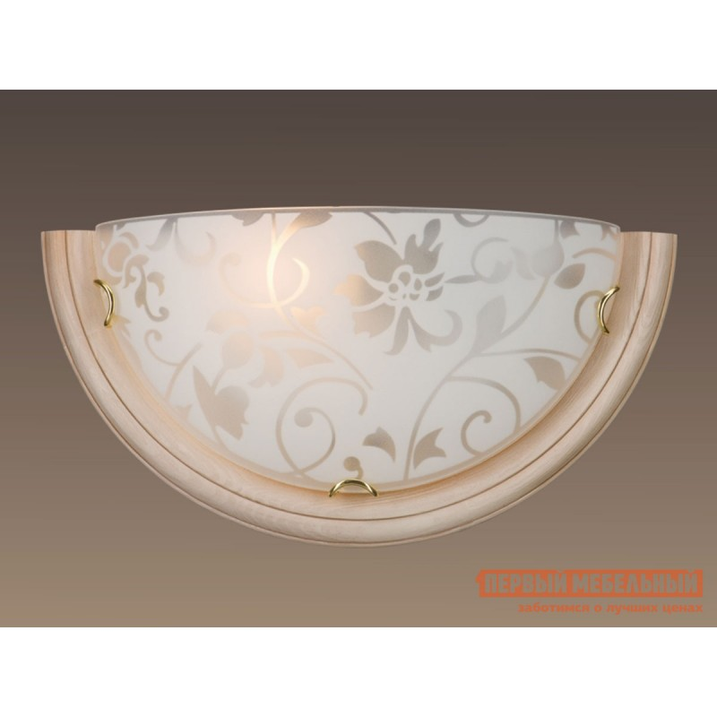 Бра  056 SN 109 Бра стекло E27 1*100Вт 360х180 PROVENCE CREMA Белый / Бежевый (фото 2)