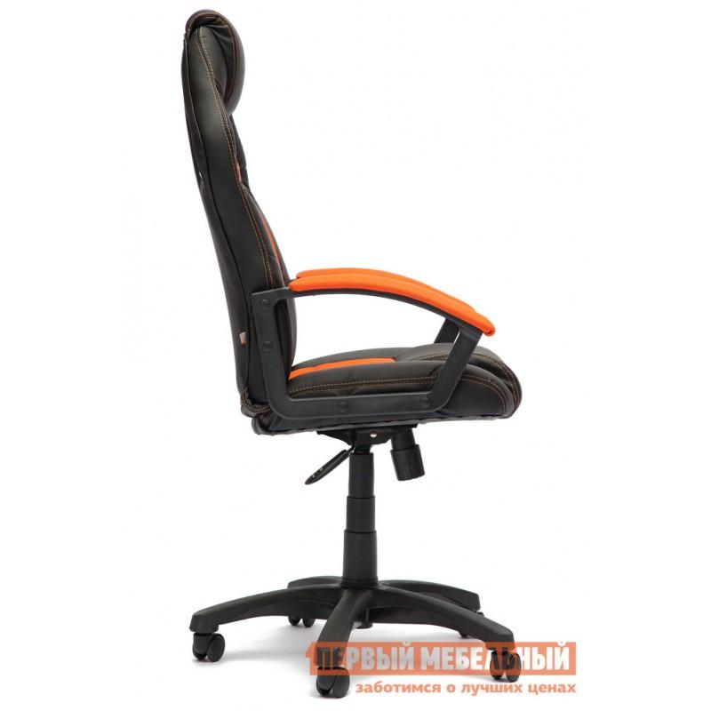 Игровое кресло  Driver Иск.кожа черная / Ткань оранжевая, 36-6/07 (фото 2)