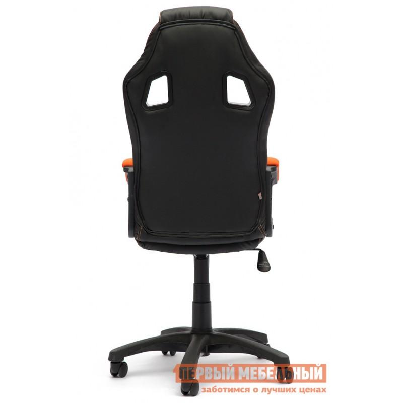 Игровое кресло  Driver Иск.кожа черная / Ткань оранжевая, 36-6/07 (фото 3)