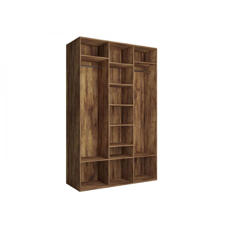 Распашной шкаф  Шкаф 3-х дверный Вега Бавария Таксония медовая, С одним зеркалом, Без топа-накладки (фото 3)