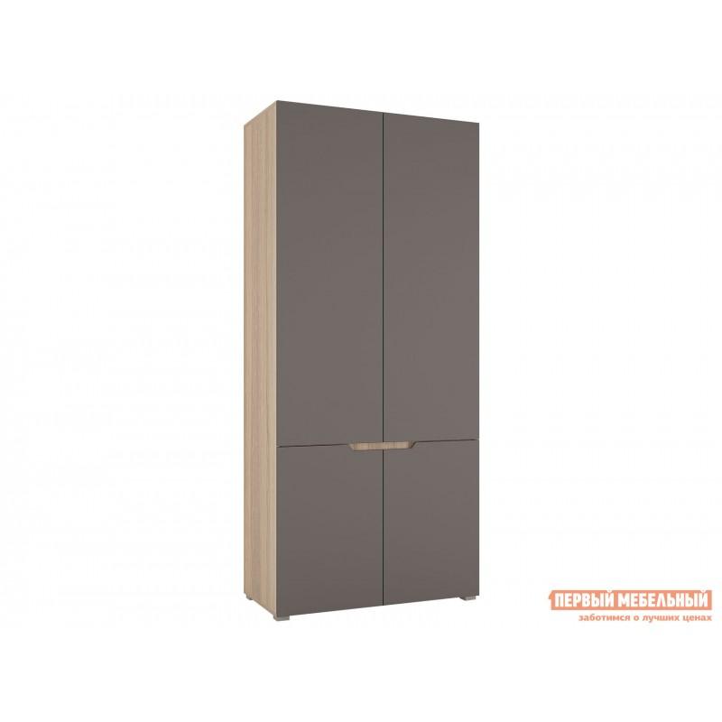 Распашной шкаф  Шкаф 2х-дверный Анталия Дуб Сонома / Графит Софт