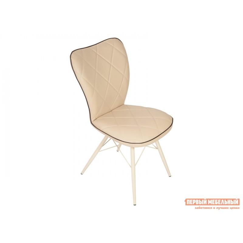 Обеденная группа для столовой и гостиной  Стол Корсика + 4 стула Риоха Молочный, Дуб выбеленный / Батлер 02; Nitro Brown; Молочный (фото 4)
