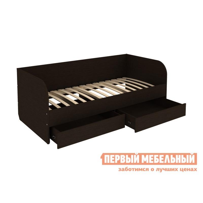 Односпальная кровать  Софа Мерлен 90х200 Венге (фото 2)