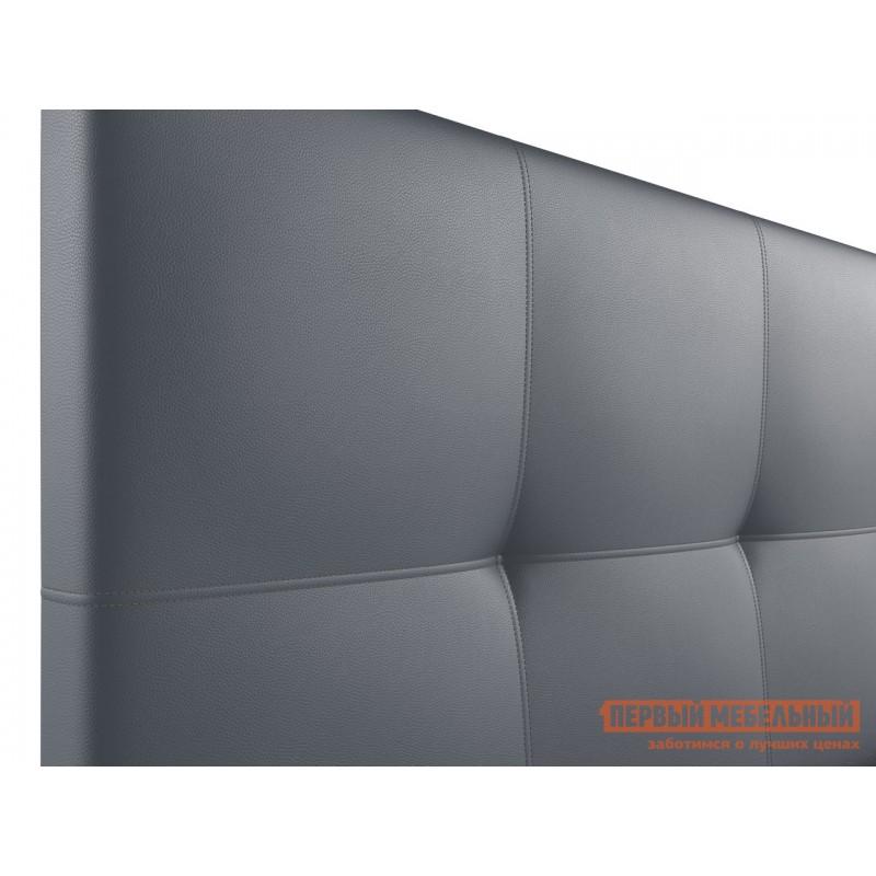 Двуспальная кровать  Верда 160х200 см, Серый, экокожа (фото 5)