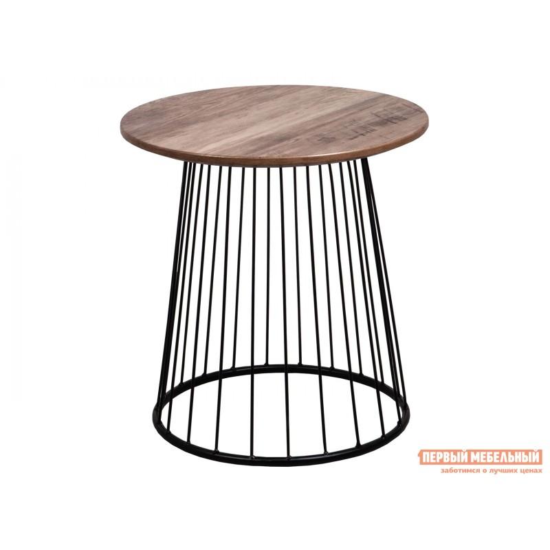 Журнальный столик  Стол журнальный FLIP Орех / Черный, 420 х 400 х 400 мм