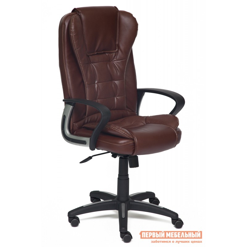 Кресло руководителя  Baron Иск.кожа коричневый 2 TONE/Коричневый перфор. 2 TONE