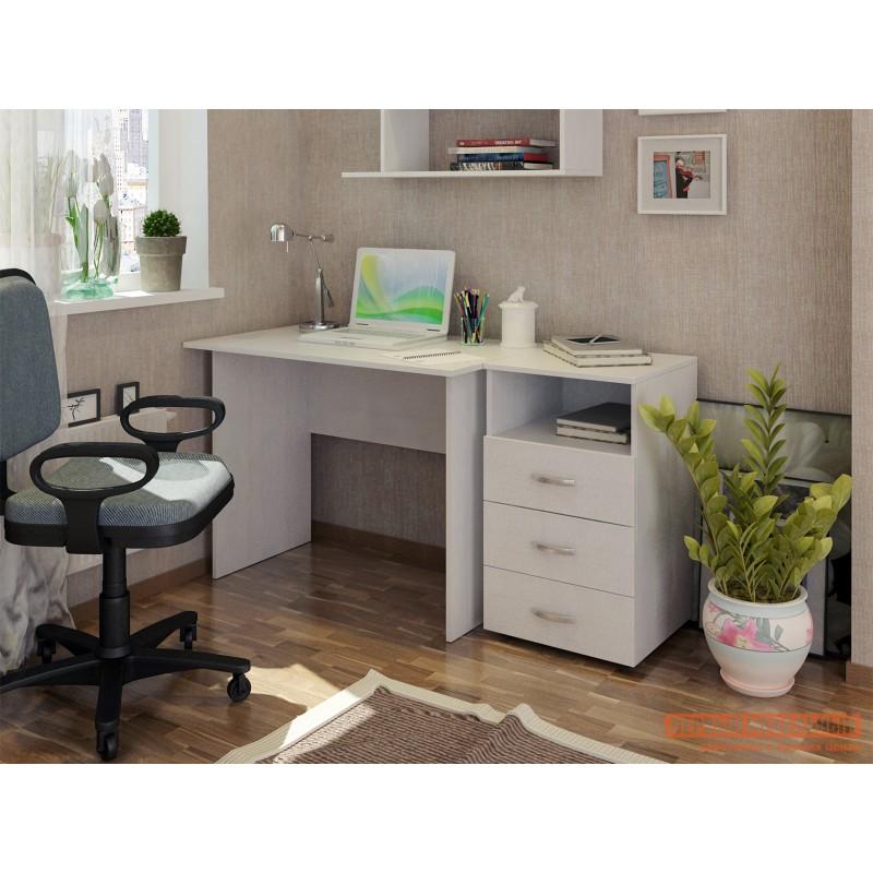 Письменный стол  Милан-106 Белый (фото 2)
