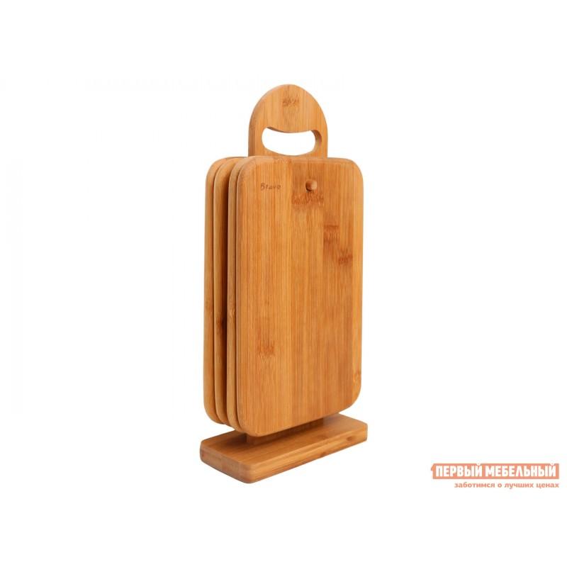 Разделочная доска  Набор досок разд.на подставке 4шт. 23*15*1см,бамбук BRAVO Бамбук