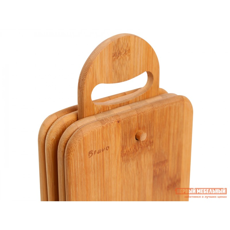 Разделочная доска  Набор досок разд.на подставке 4шт. 23*15*1см,бамбук BRAVO Бамбук (фото 3)