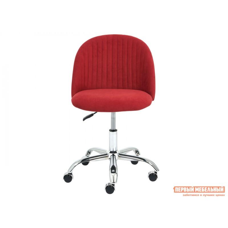Офисное кресло  MELODY Бордовый, флок (фото 2)