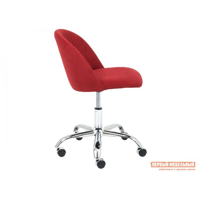 Офисное кресло  MELODY Бордовый, флок (фото 3)